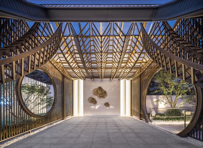 Yuzhou Langting Mansion Exhibition Center by Tengyuan Design