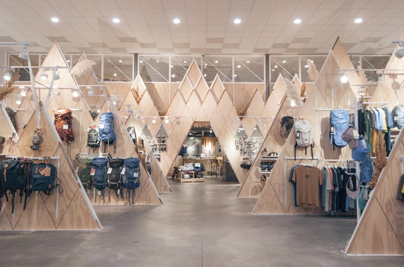Wood Mountains designed for an outdoor goods retailer.