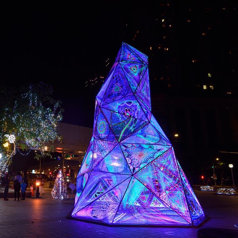 A light art installation.