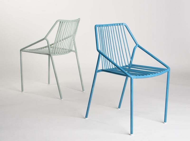 A modern outdoor chair.
