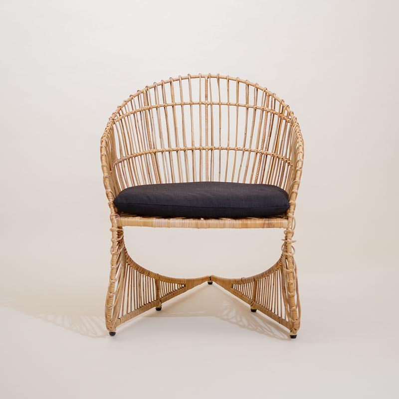 A contemporary chair designed by Melissa Mae Tan.