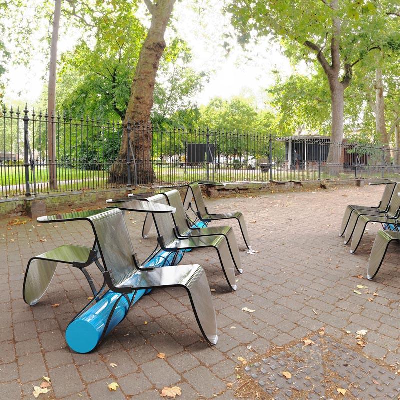 Modern public furniture and outdoor garden chair.