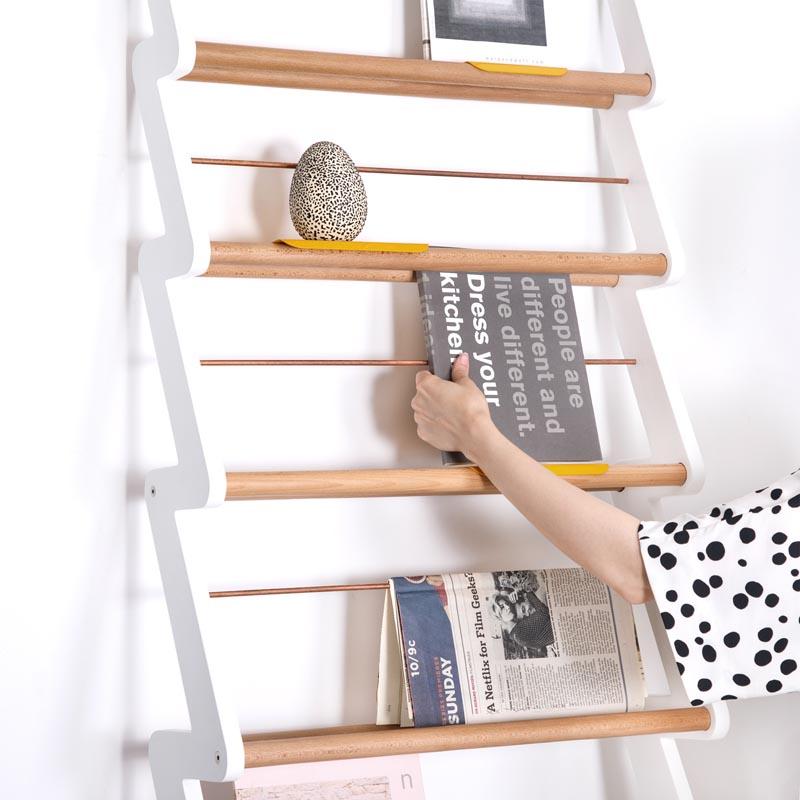 A modern shelving solution.