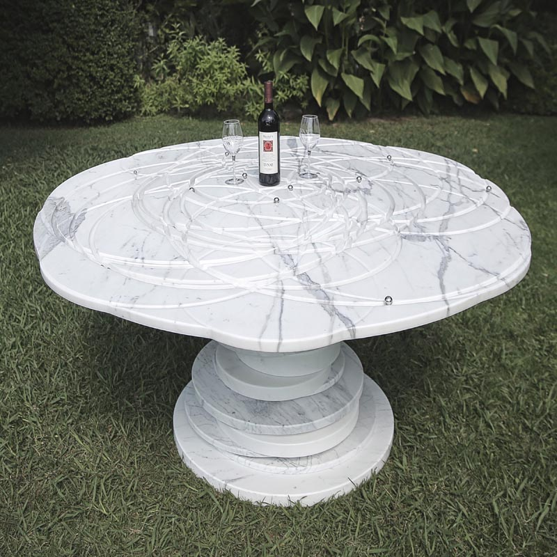 A modern dining table.