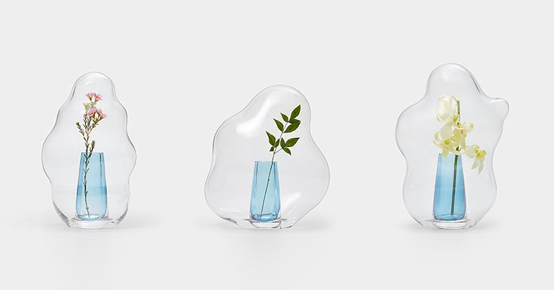 Yuhsien Design Studio has created a collection of modern vases that were inspired by the irregular and unique appearance of bubbles. #ModernHomeDecor #ModernVases