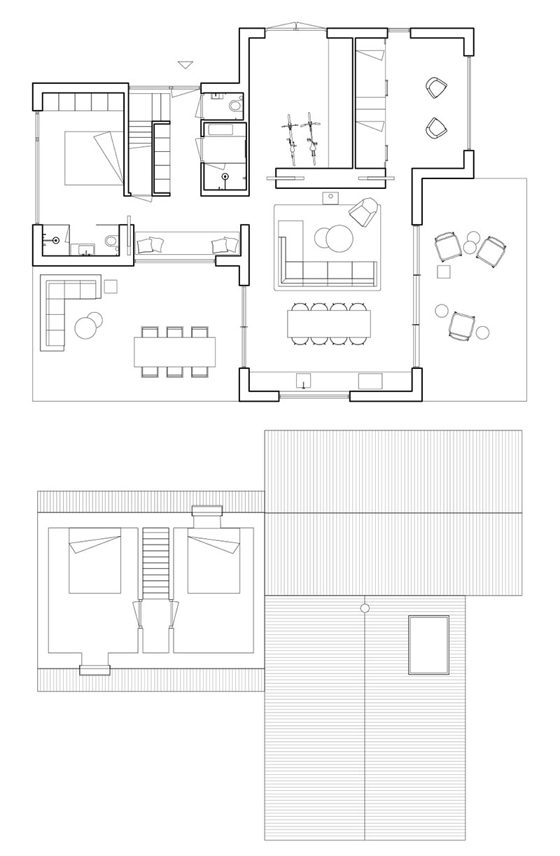 Architecture firm HofmanDujardin has recently completed a new holiday villa in Tonden, Netherlands, for their clients who wanted an escape from the rush of the city. #FloorPlan #HouseLayout #ModernHouse