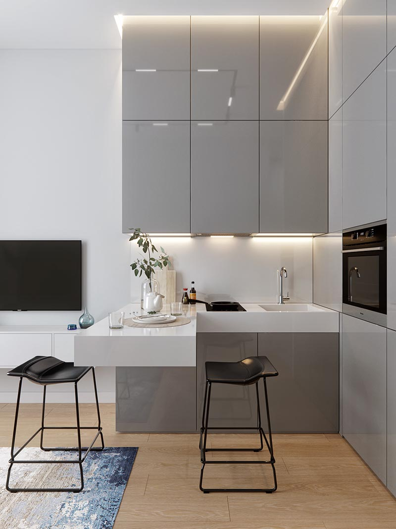 Small Kitchens Don't Get Much Smaller Than This