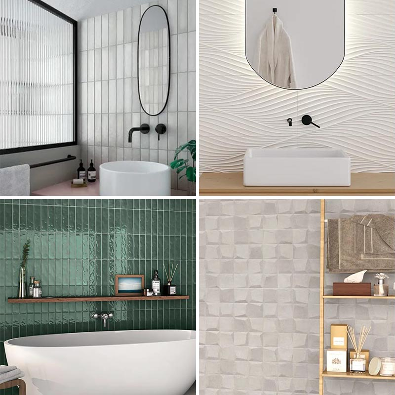 Bathroom Tile Ideas ? 4 New Wall Tile Designs From Bedrosians Tile & Stone