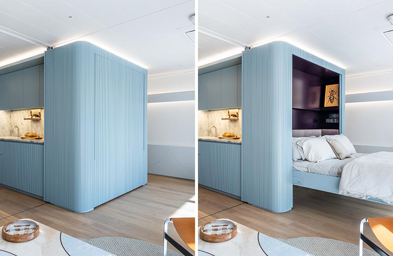 Two Murphy Beds Are Hidden In The Walls Of This Small Apartment