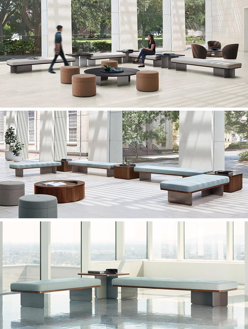 Terry Crews has designed Elevation, a modular system of benches, ottomans, and tables