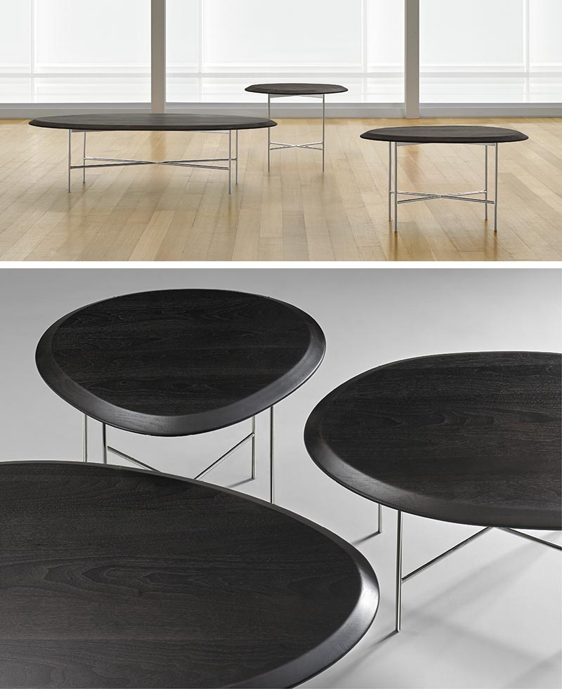 Terry Crews has designed Float, a 1'' thick, organically shaped side table with a solid walnut top.