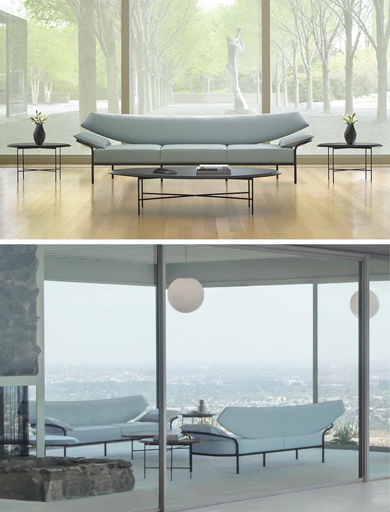 Terry Crews has designed Ibis, a two or three seater lounge that showcases a soft curve to its design.
