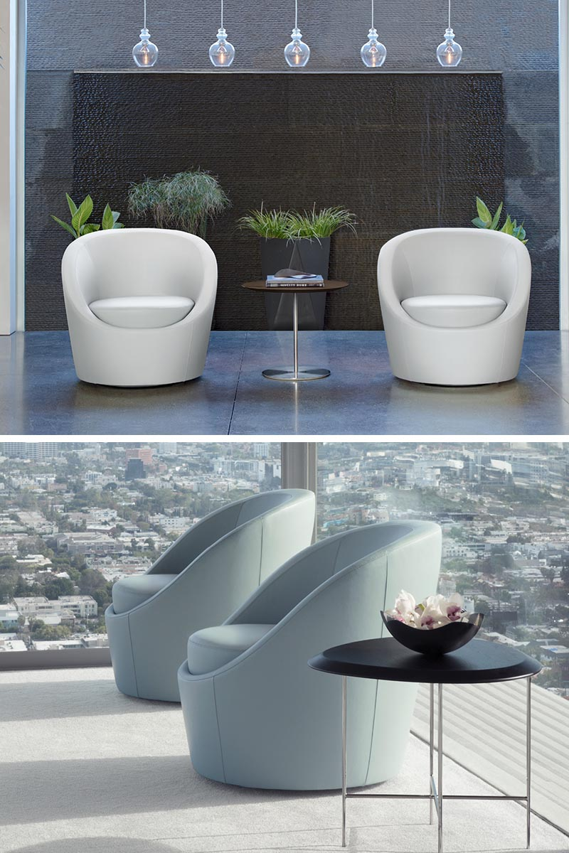 Terry Crews has designed Lily, a modern, stationary, standalone upholstered armchair.