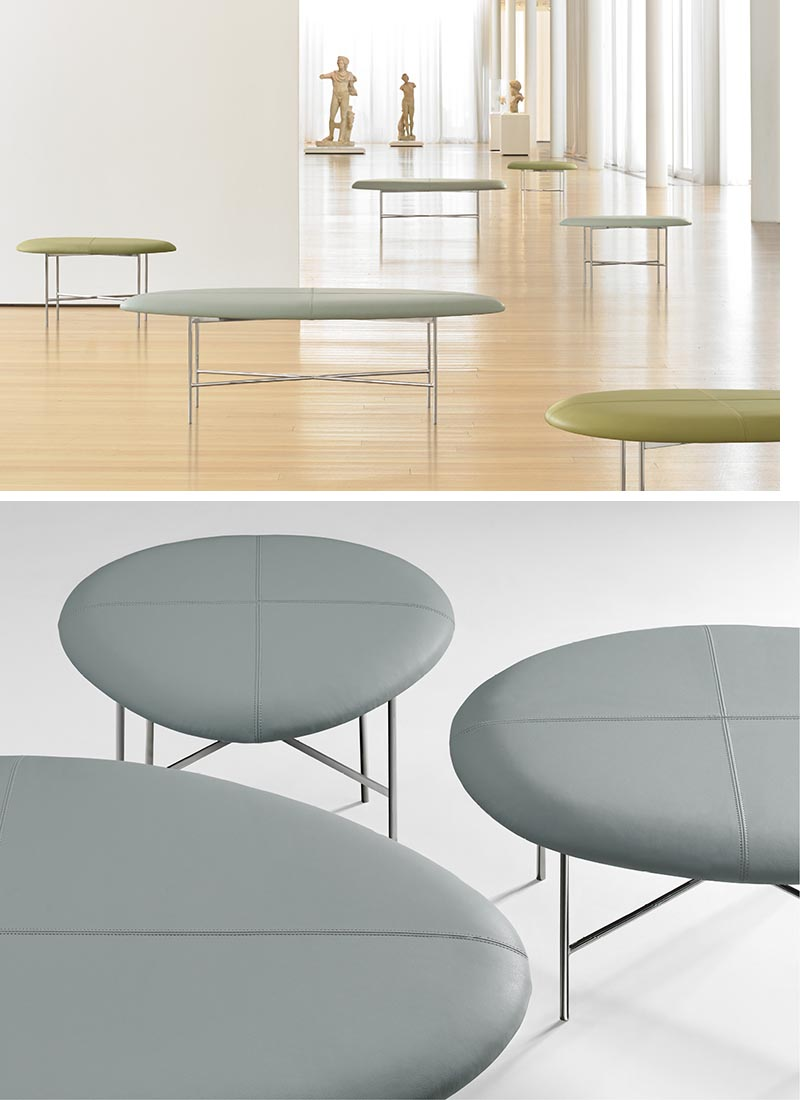 Terry Crews has designed Aire, a minimalist bench with a curved  organic shape.