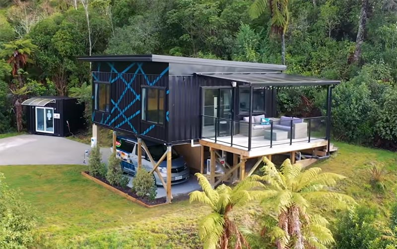 This Woman Designed Her Own Small House Made From 3 Shipping Containers
