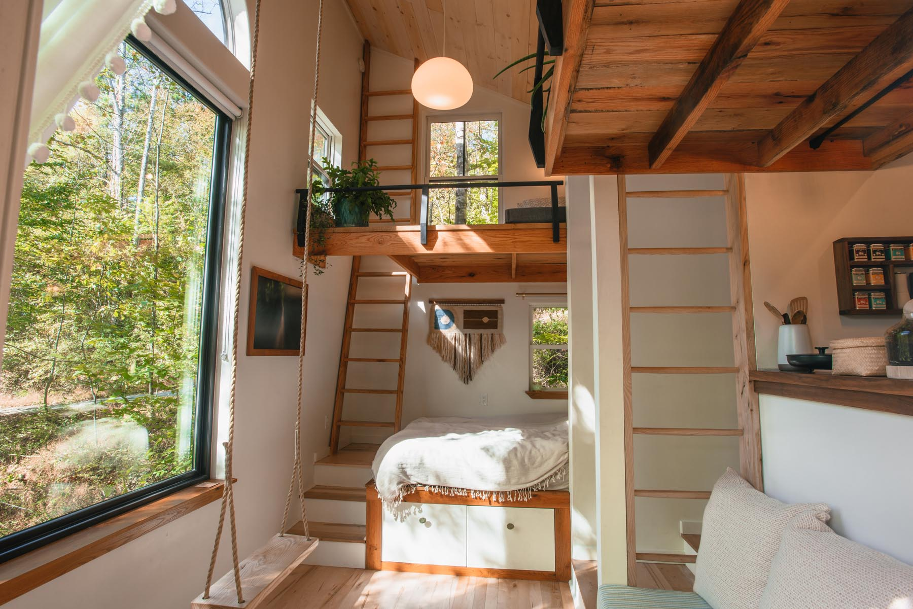 A small house with a reading loft