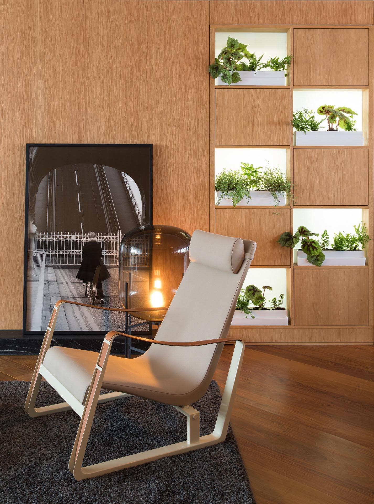 Living Room Shelving Designed For Plants Instead Of Books
