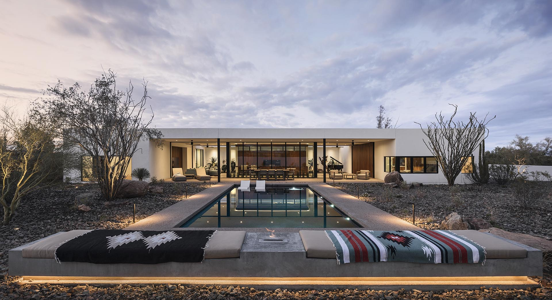 This Modern House Was Designed To Integrate The Desert Flora And Fauna