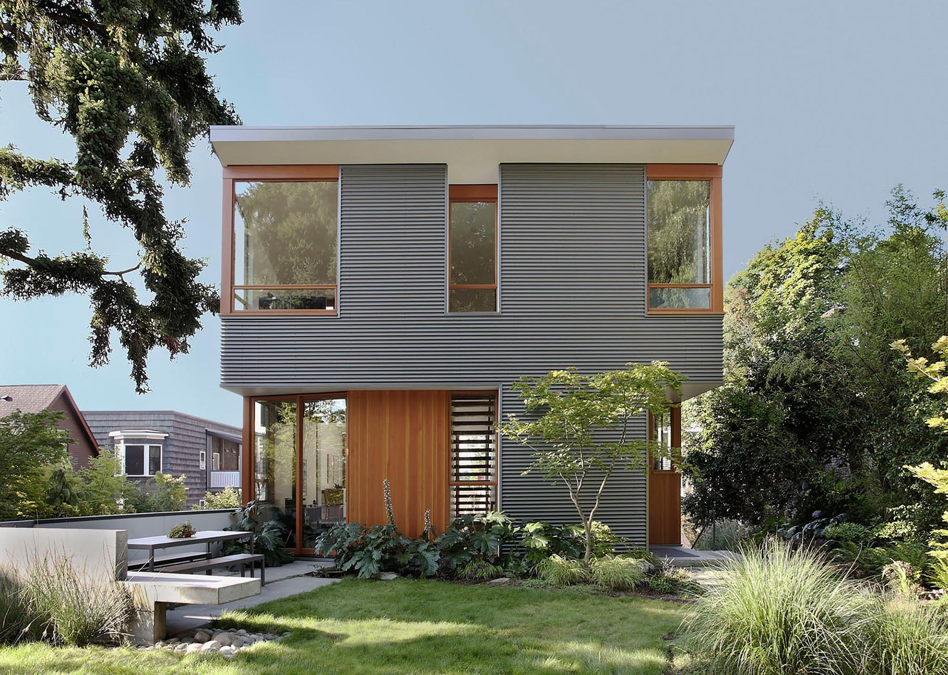 Exterior Siding Idea – Use Corrugated Metal Siding To Add Texture To A House