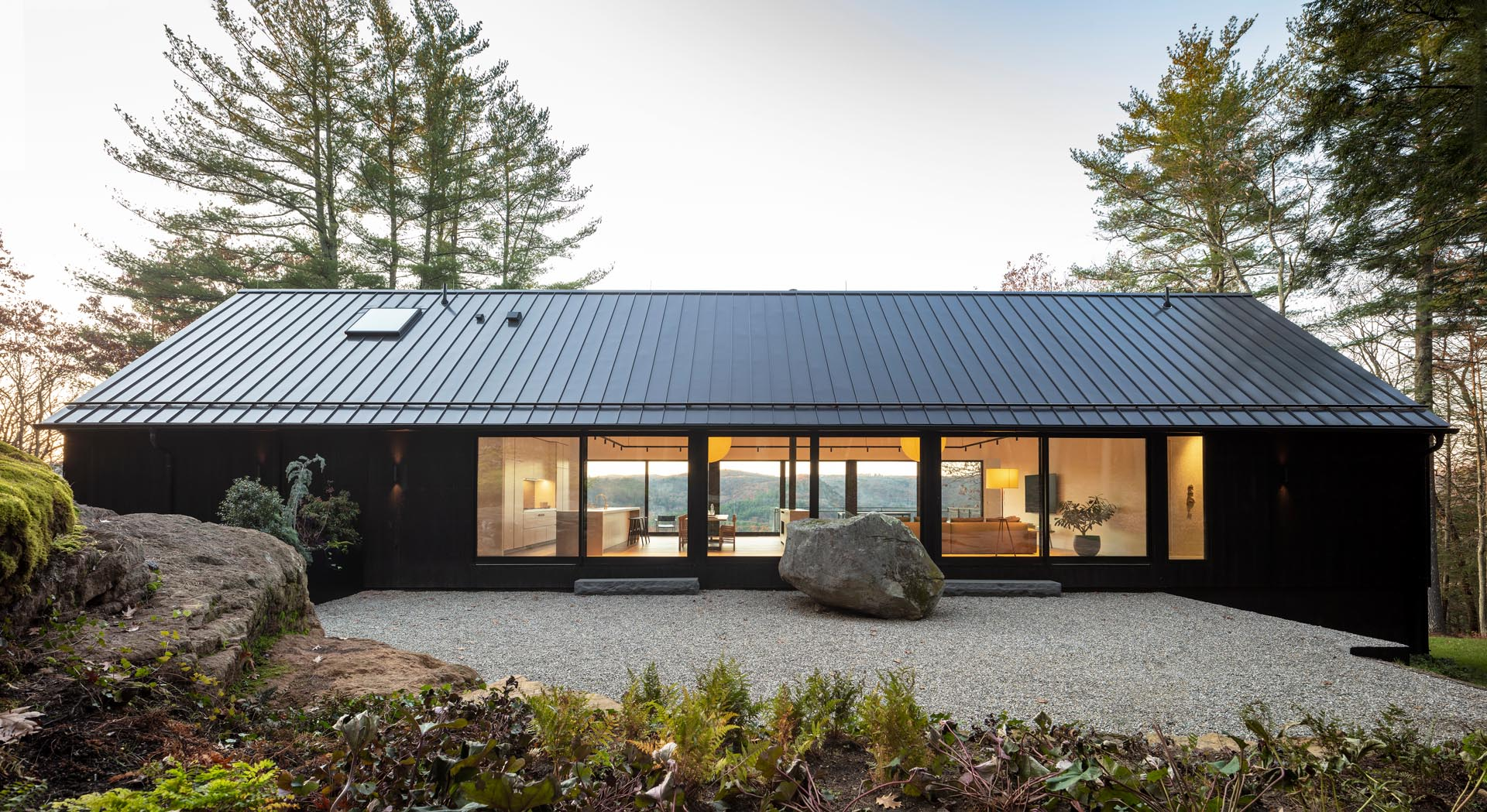 This Modern House In Connecticut Is Completely Surrounded By Trees