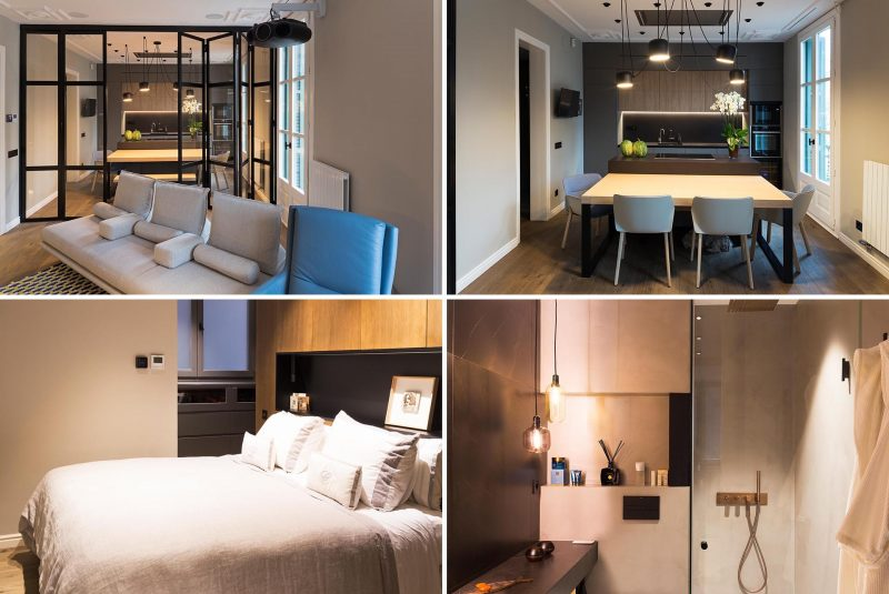 Goko Studio Architects has remodeled an apartment in Barcelona, Spain, to bring it up to today's standards.