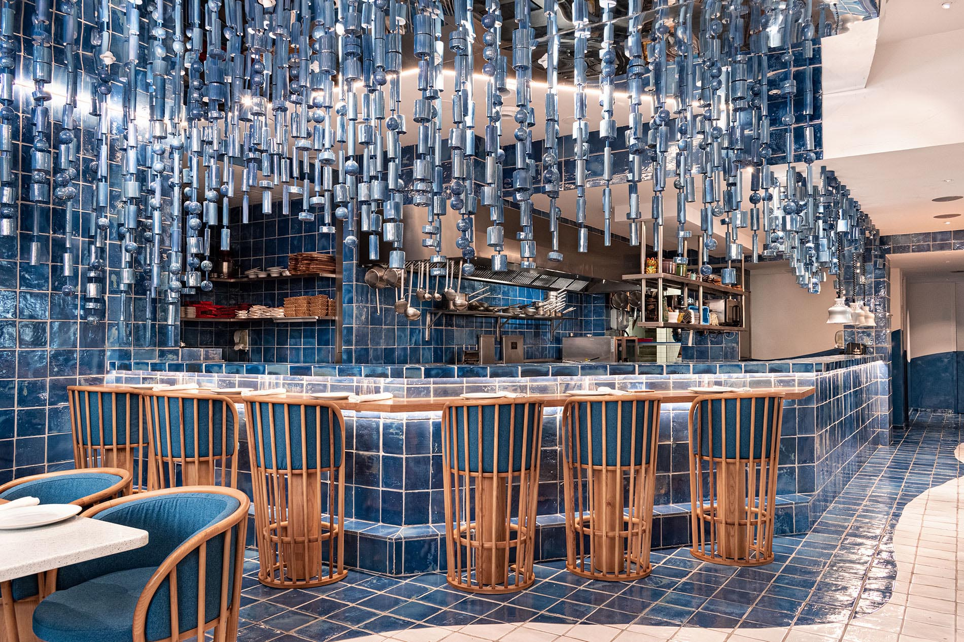 Masquespacio Have Designed A Restaurant Interior Inspired By The Sea And The Shape Of Waves