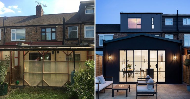 Before & After – A Modern Extension Was Added To This House In London