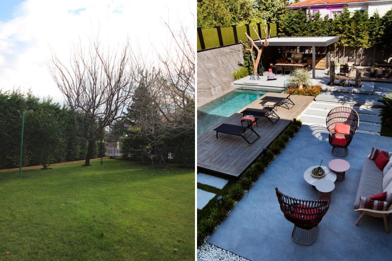 Before & After - An Extensive Yard Renovation For This House In Turkey
