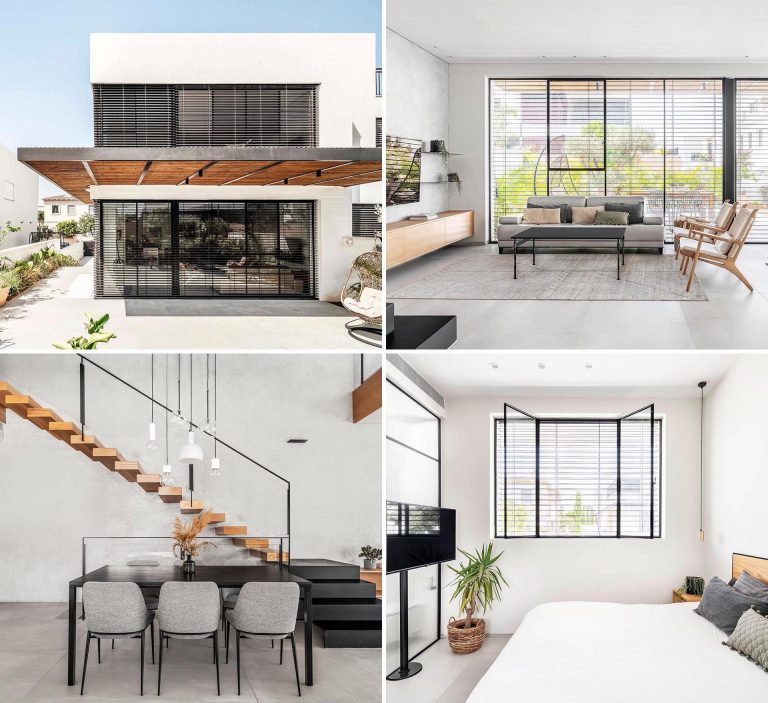 A White Interior With Matte Black Accents Matches This Home's Exterior