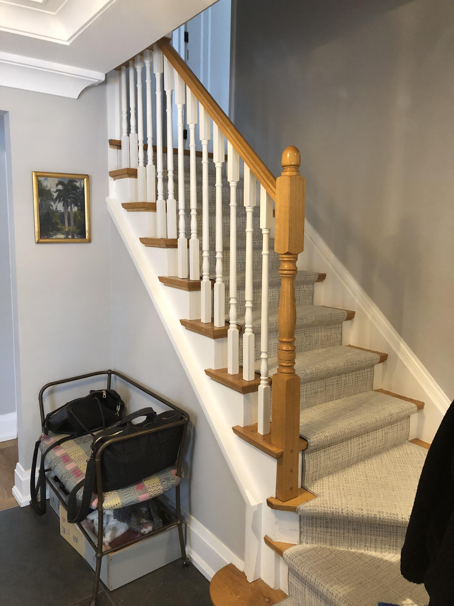 A staircase before the renovation.