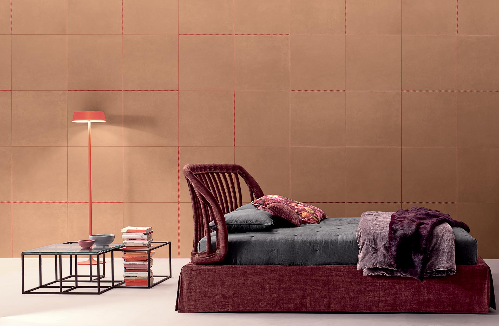 Earthy tiles with a natural tone that's inspired by Fall (Autumn).