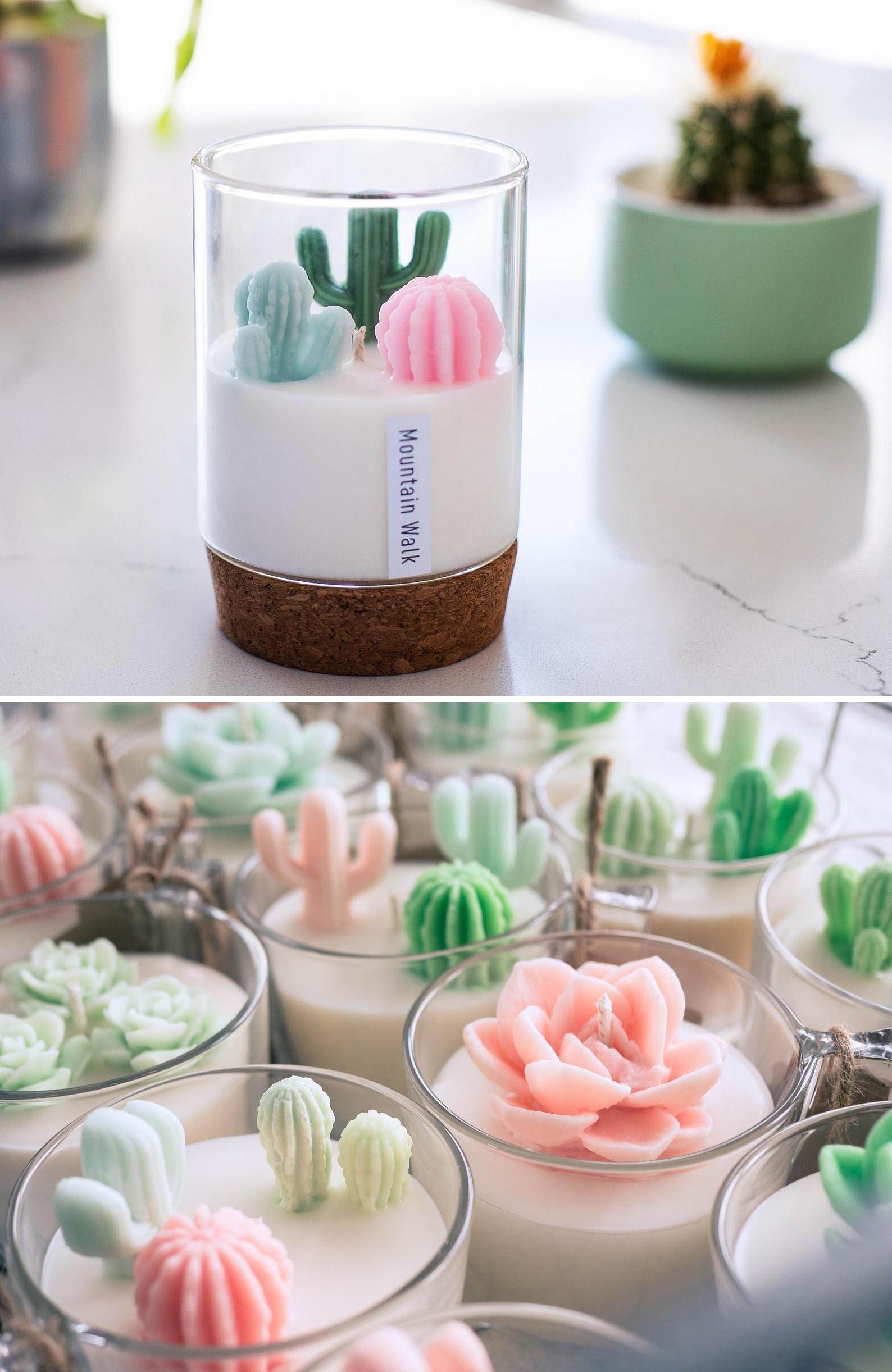 Gift Idea - Succulent Cactus Candle