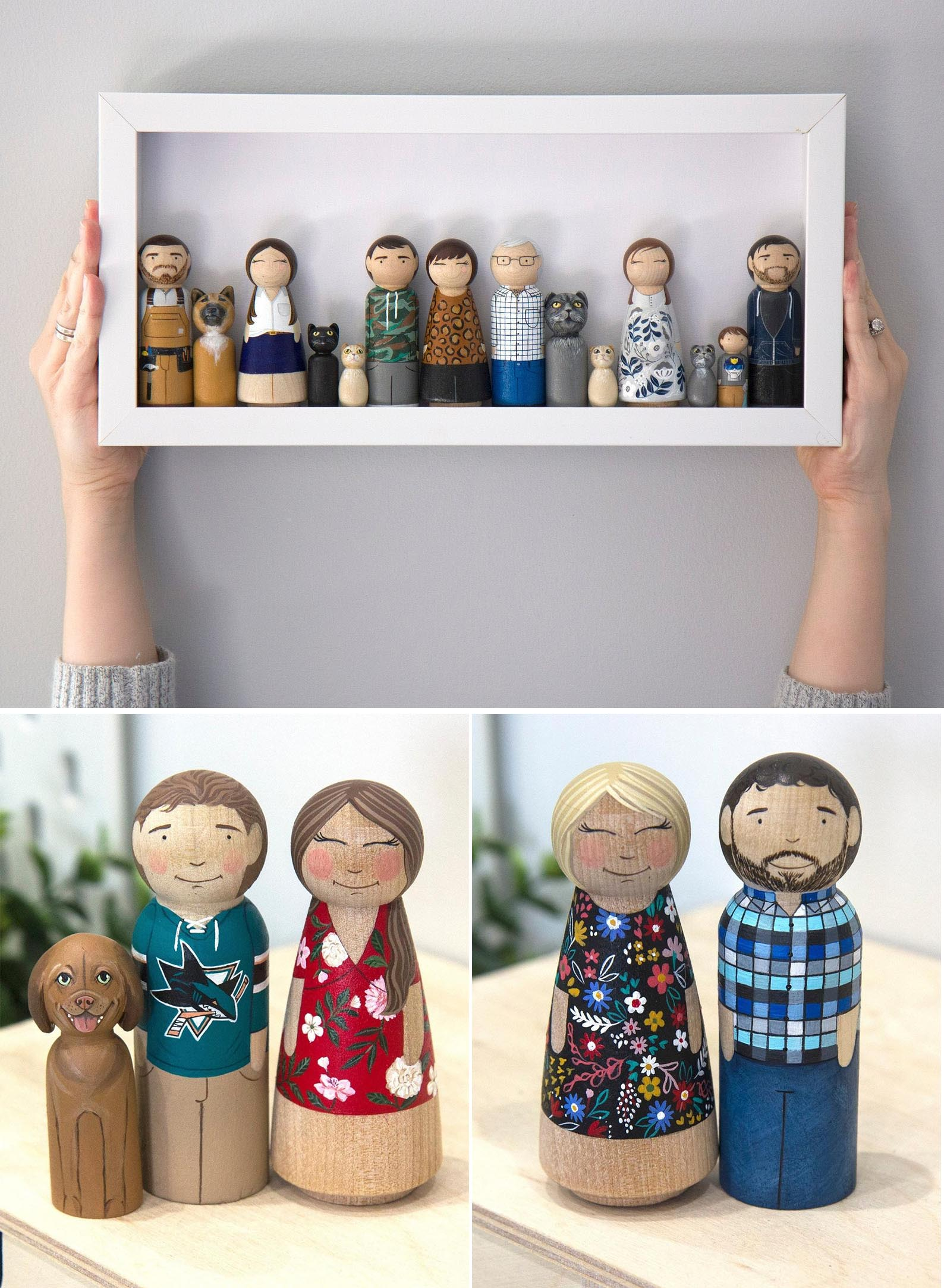Gift Idea - Wooden Family Portrait