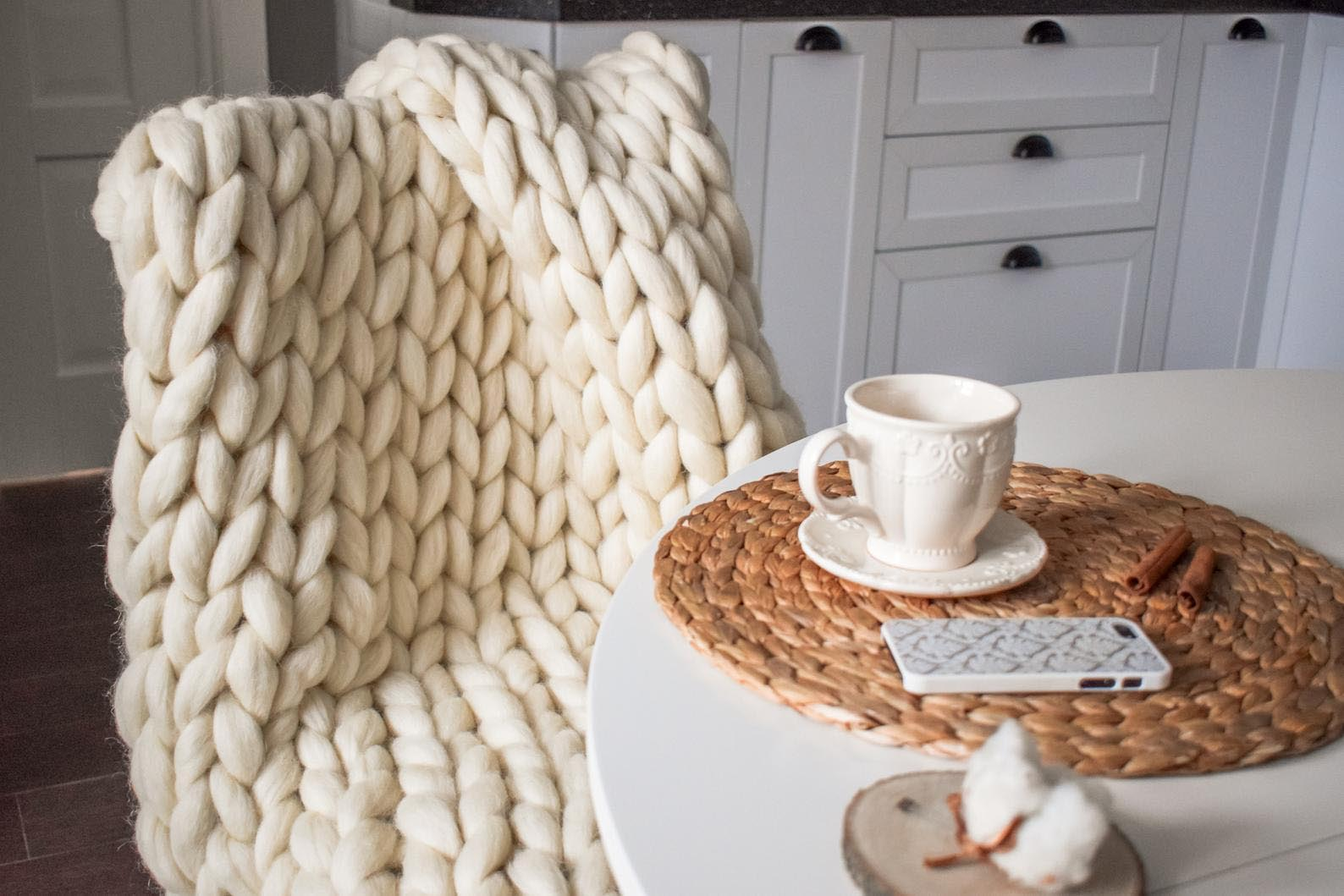 Gift Idea - Chunky Knit Blanket