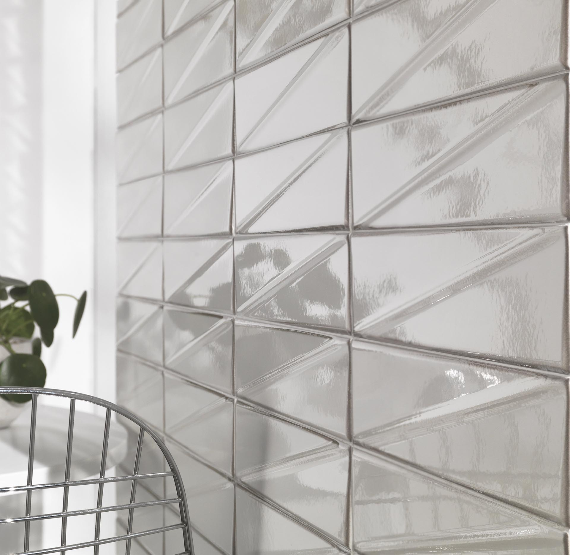Glossy tiles are making a comeback, allowing floors and walls to pop with perfectly smooth surfaces and beautiful shine.