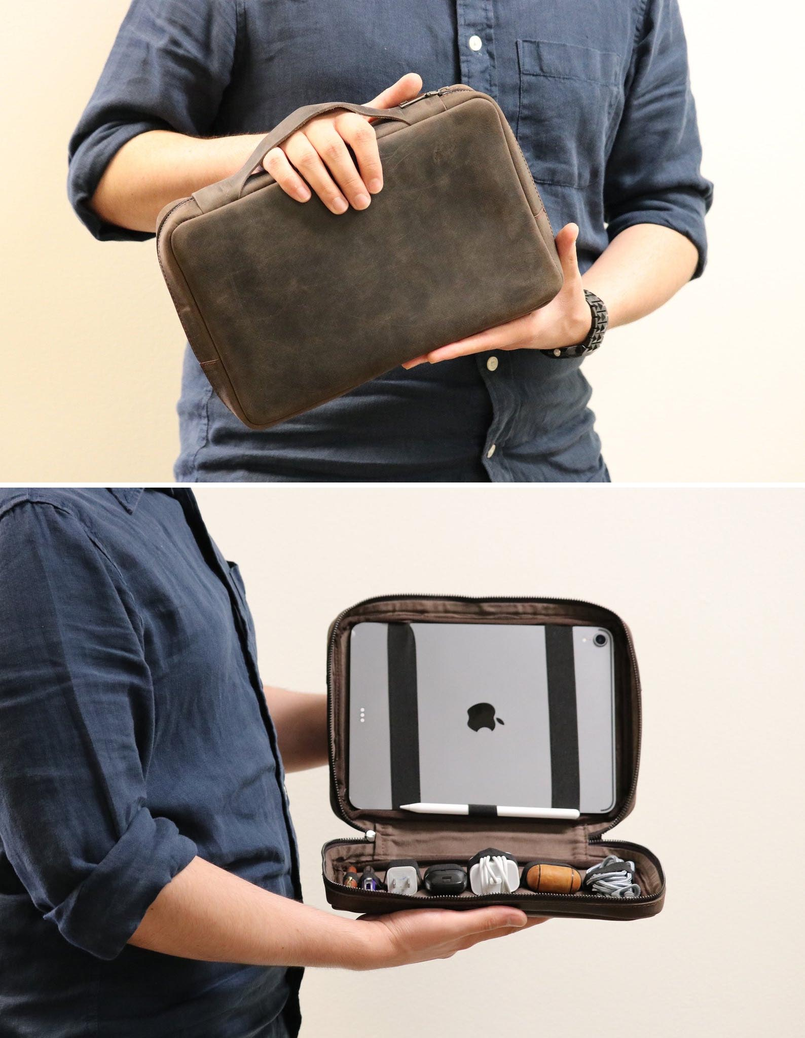 Gift Idea - Leather Travel Tech Organizer