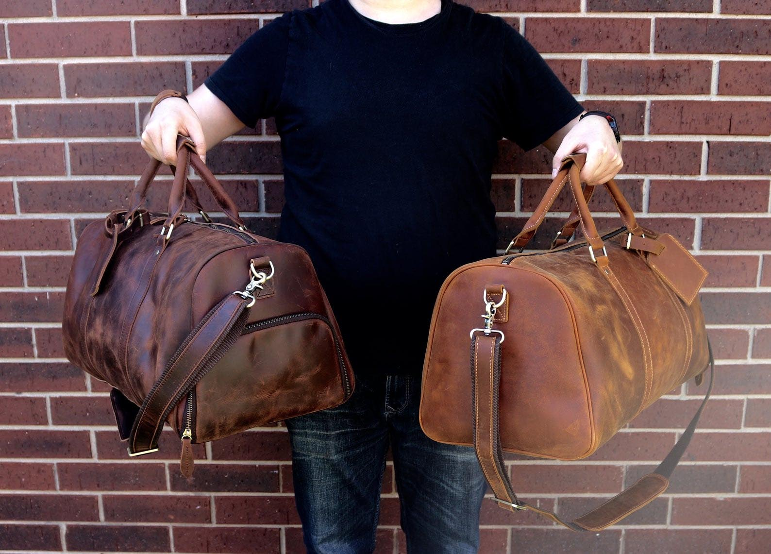 Gift Idea - Leather Duffle Bag