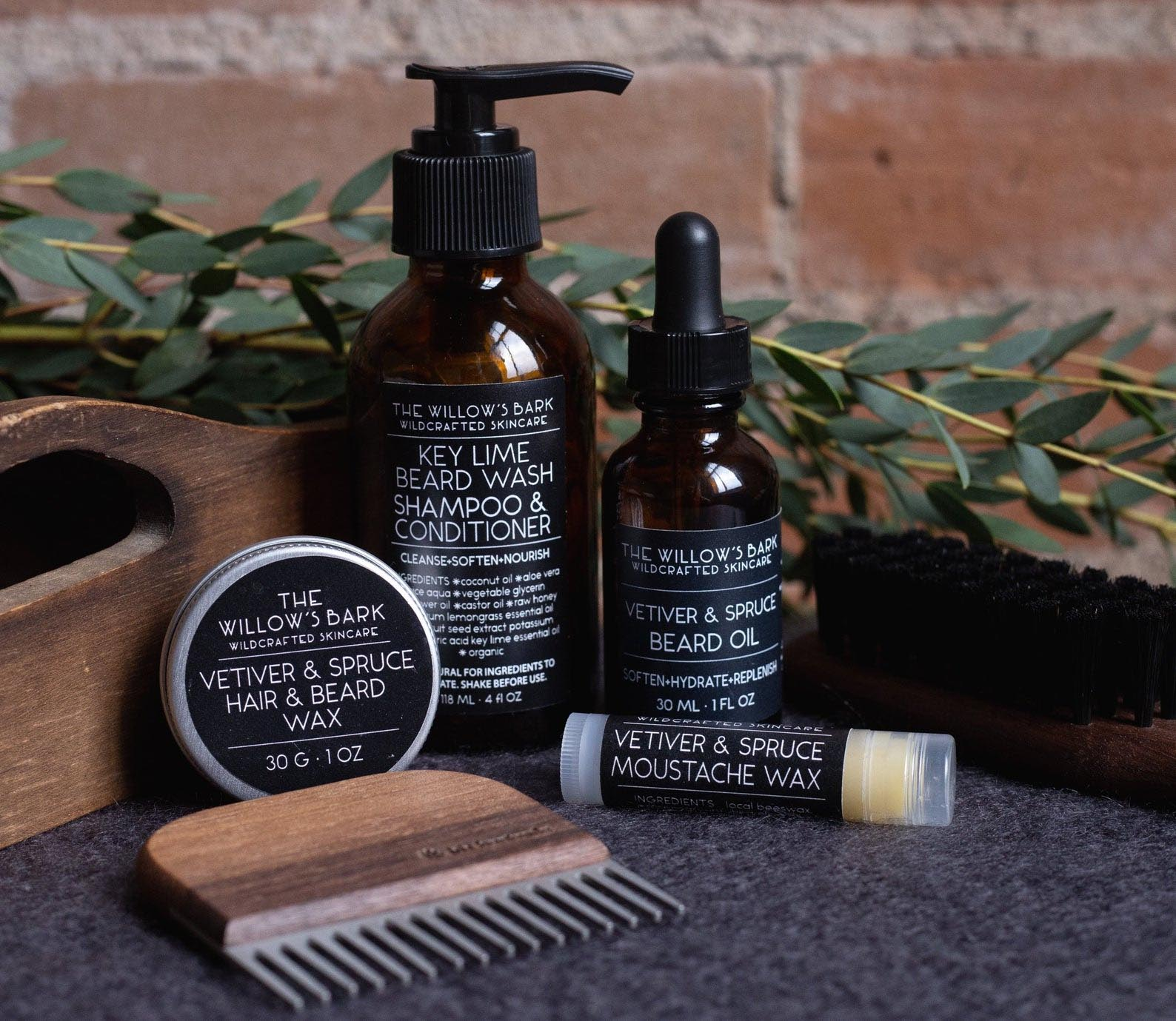 Gift Idea - Vetiver & Spruce Beard Kit