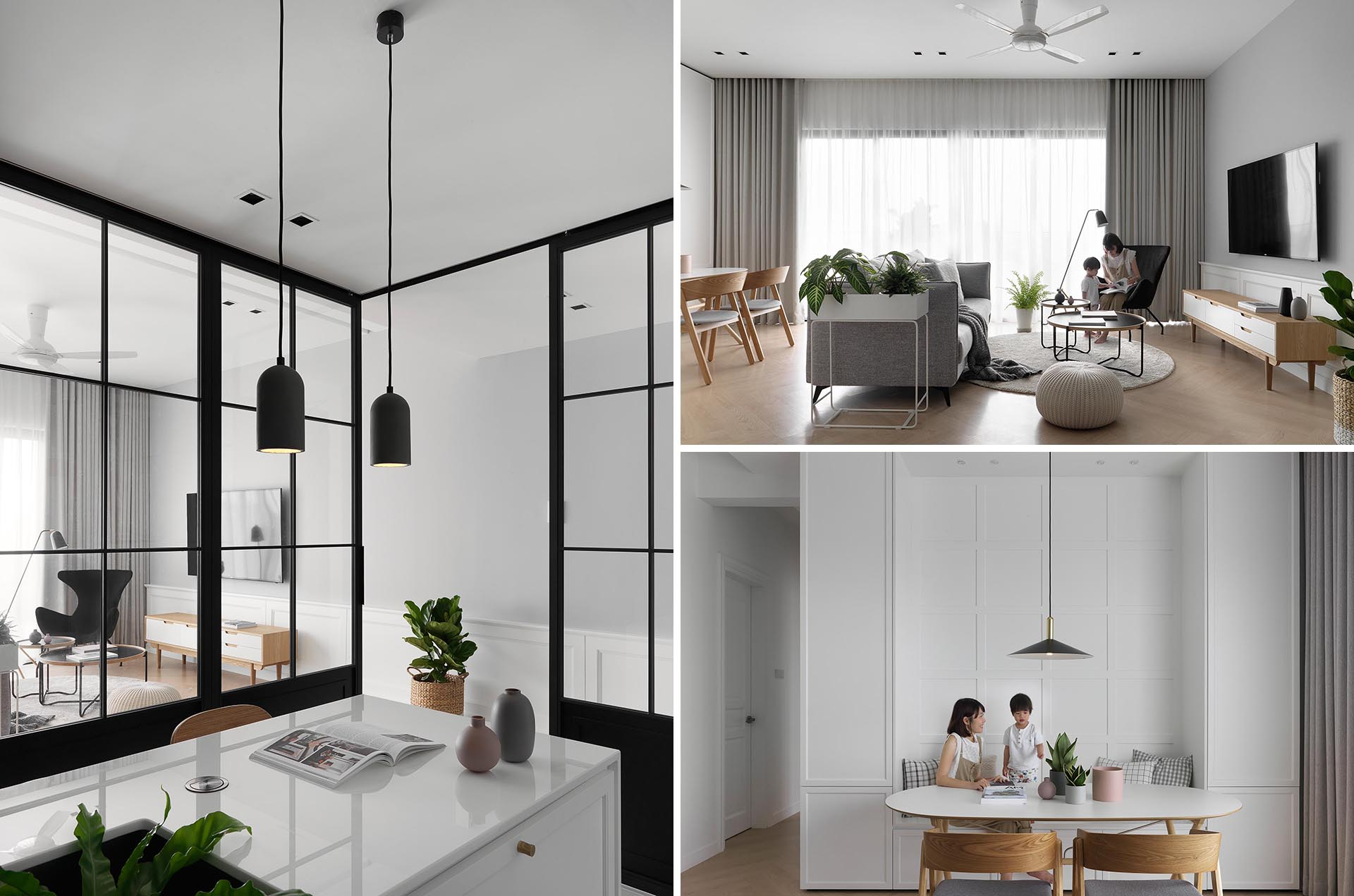 A modern apartment inspired by Scandinavian minimalism.