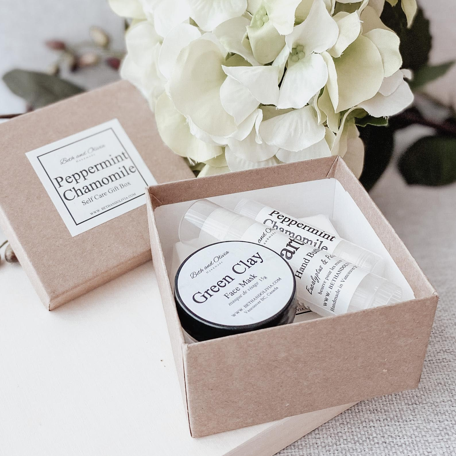 Gift Idea - Peppermint Chamomile Self Care Gift Set