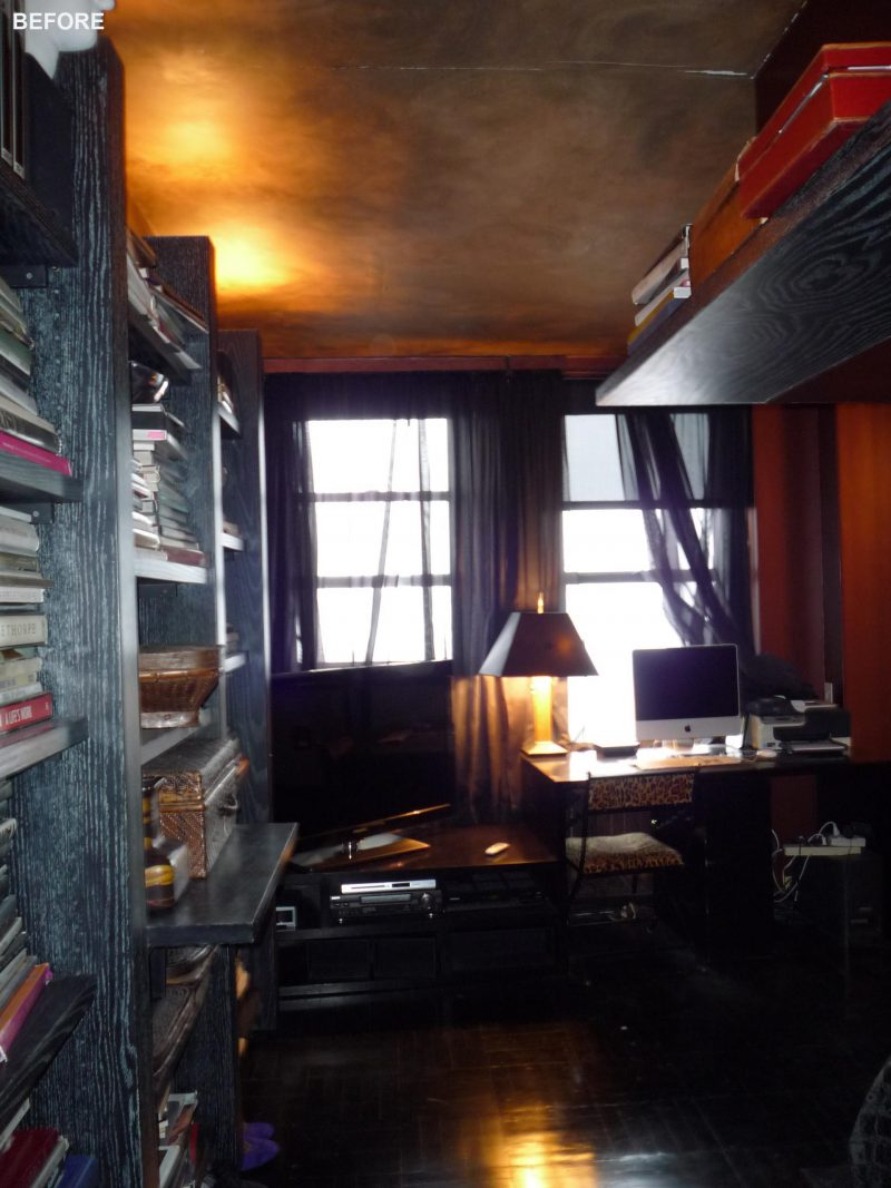 A 'before' photo of a home office/den.