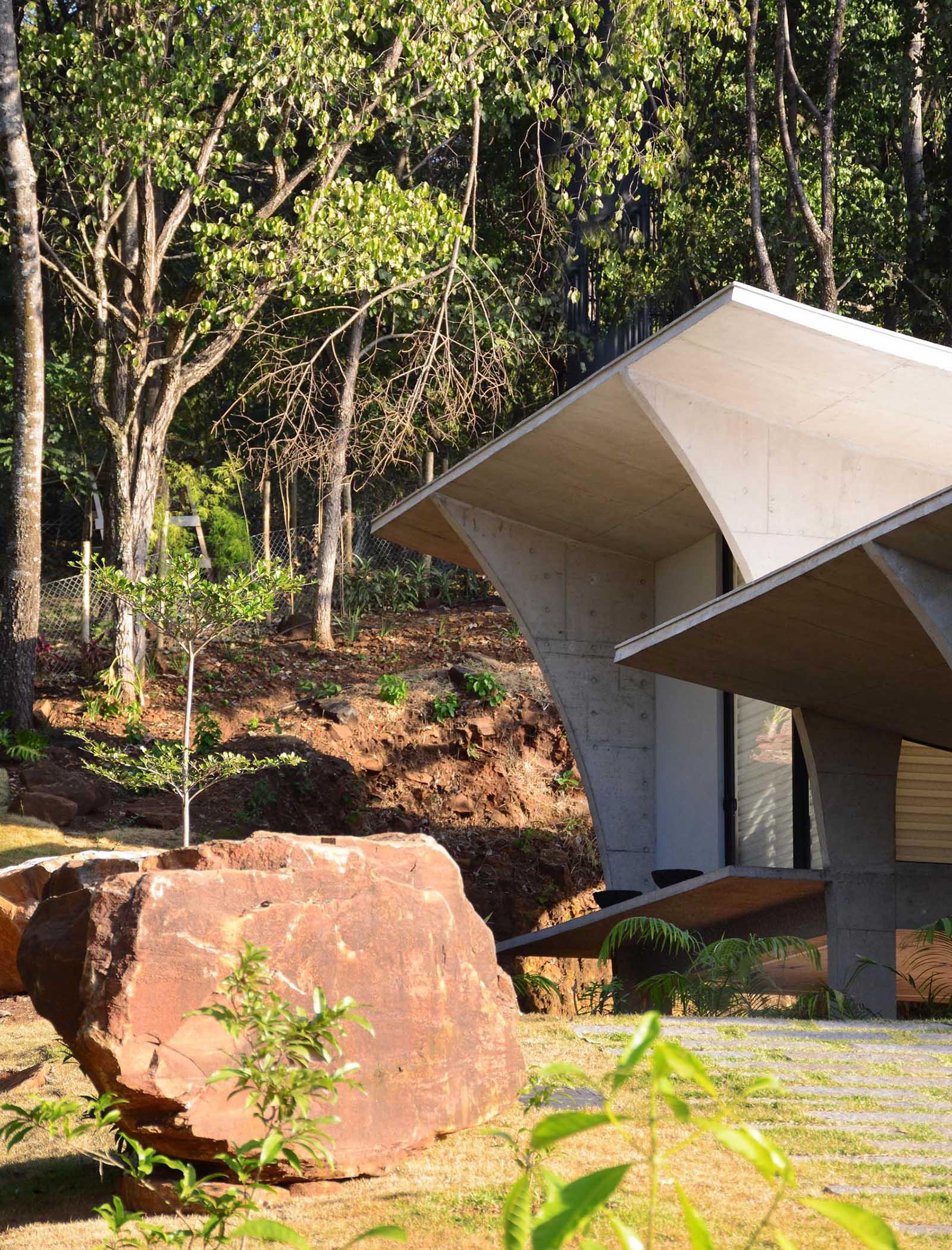 A modern concrete house in Brazil.