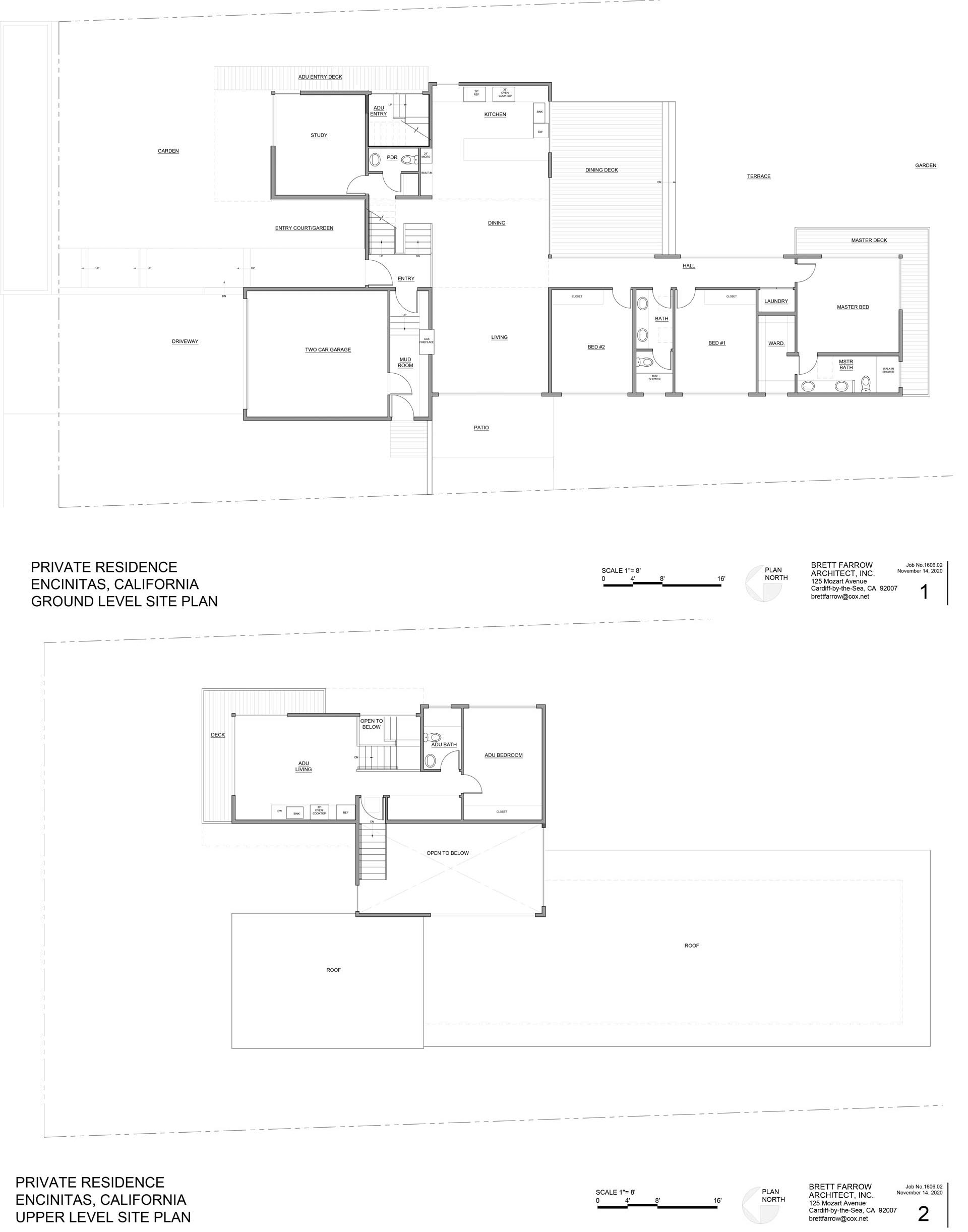 The floor plan of a modern home with an accessory dwelling unit for visiting relatives.