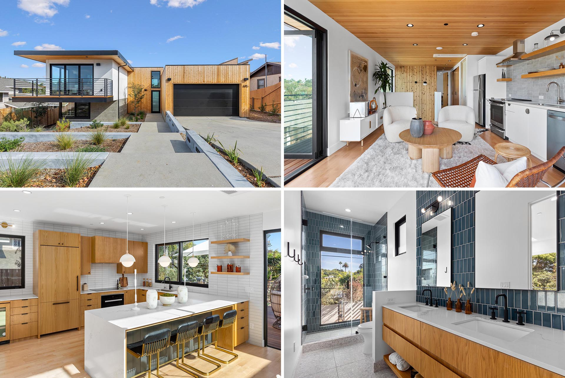 A modern home with an accessory dwelling unit for visiting relatives.