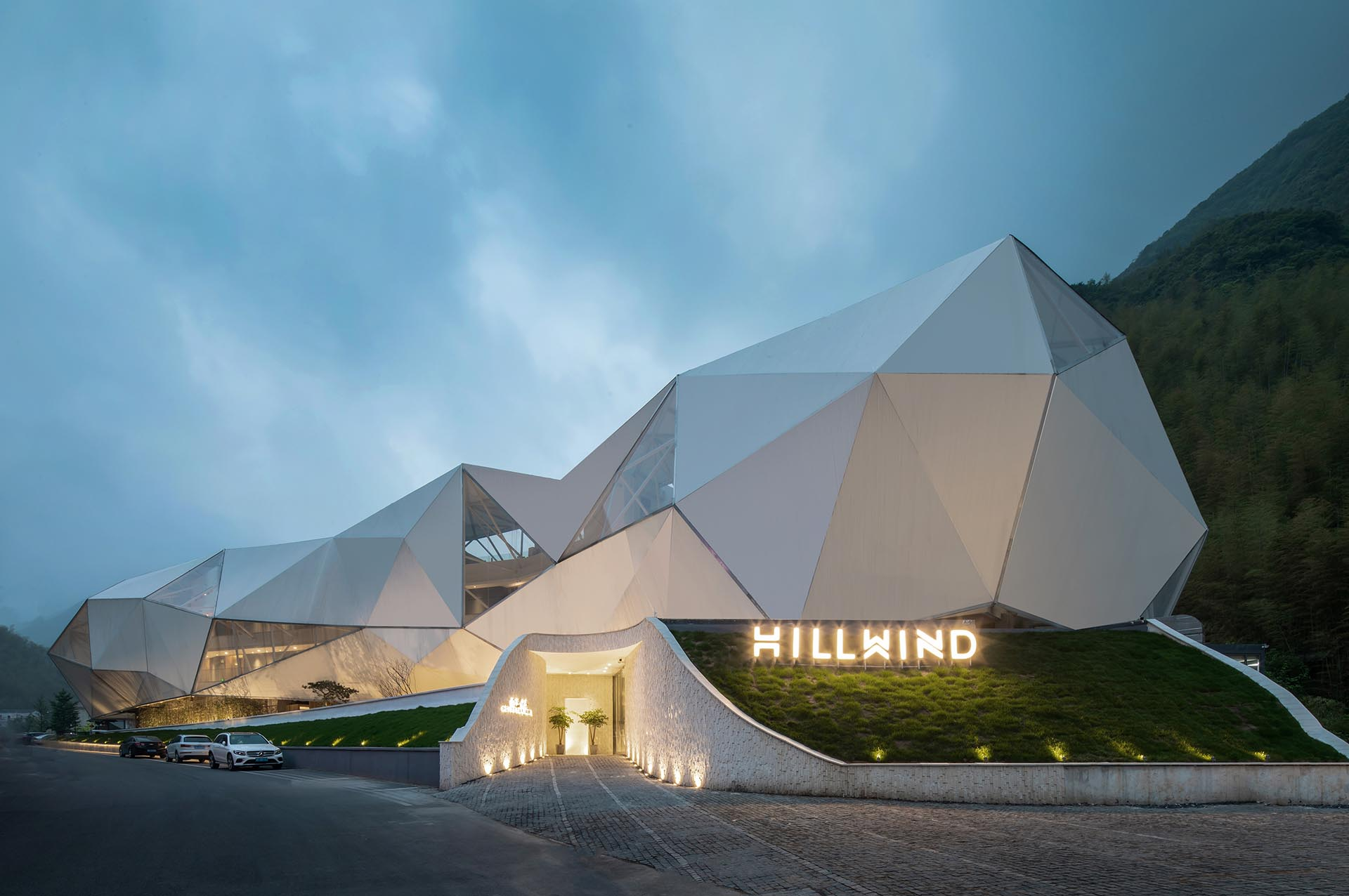 The Hill Wind Hotel and Resort designed by Huafang Wang
