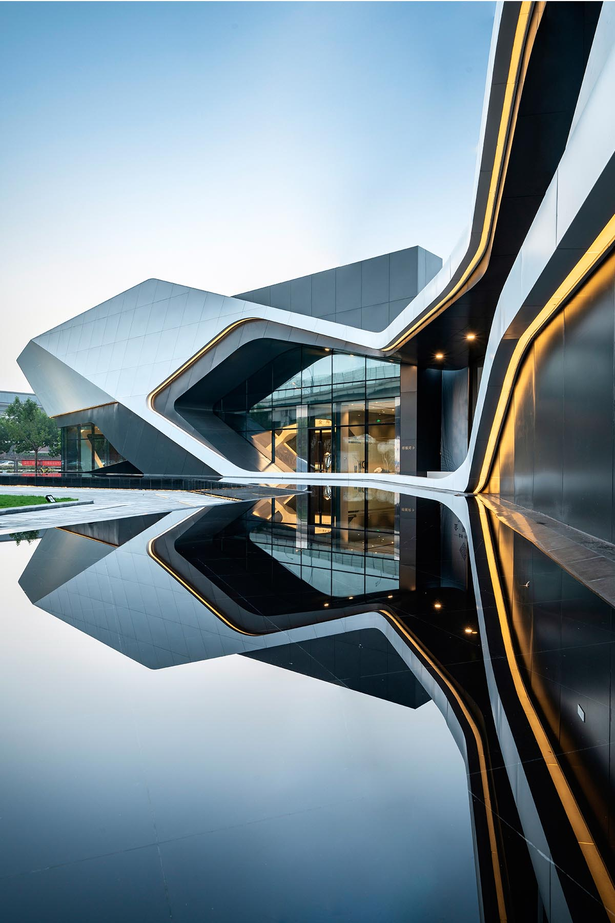 A modern building named 'Navigator' that was designed by Kris Lin.