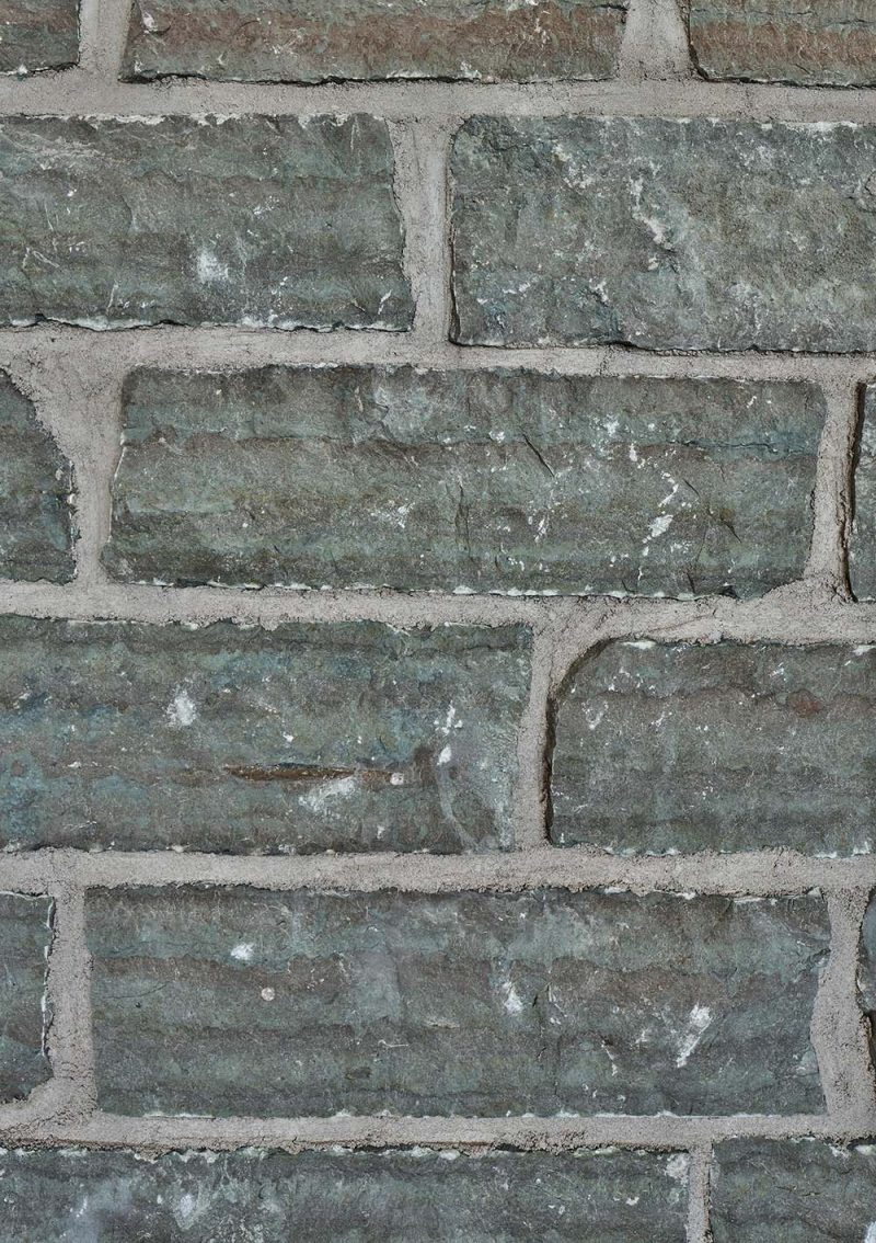 A closeup look at a limestone wall.