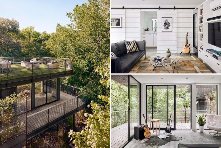 A New Living Space With A Green Roof Was Made Possible By An Addition To This Home