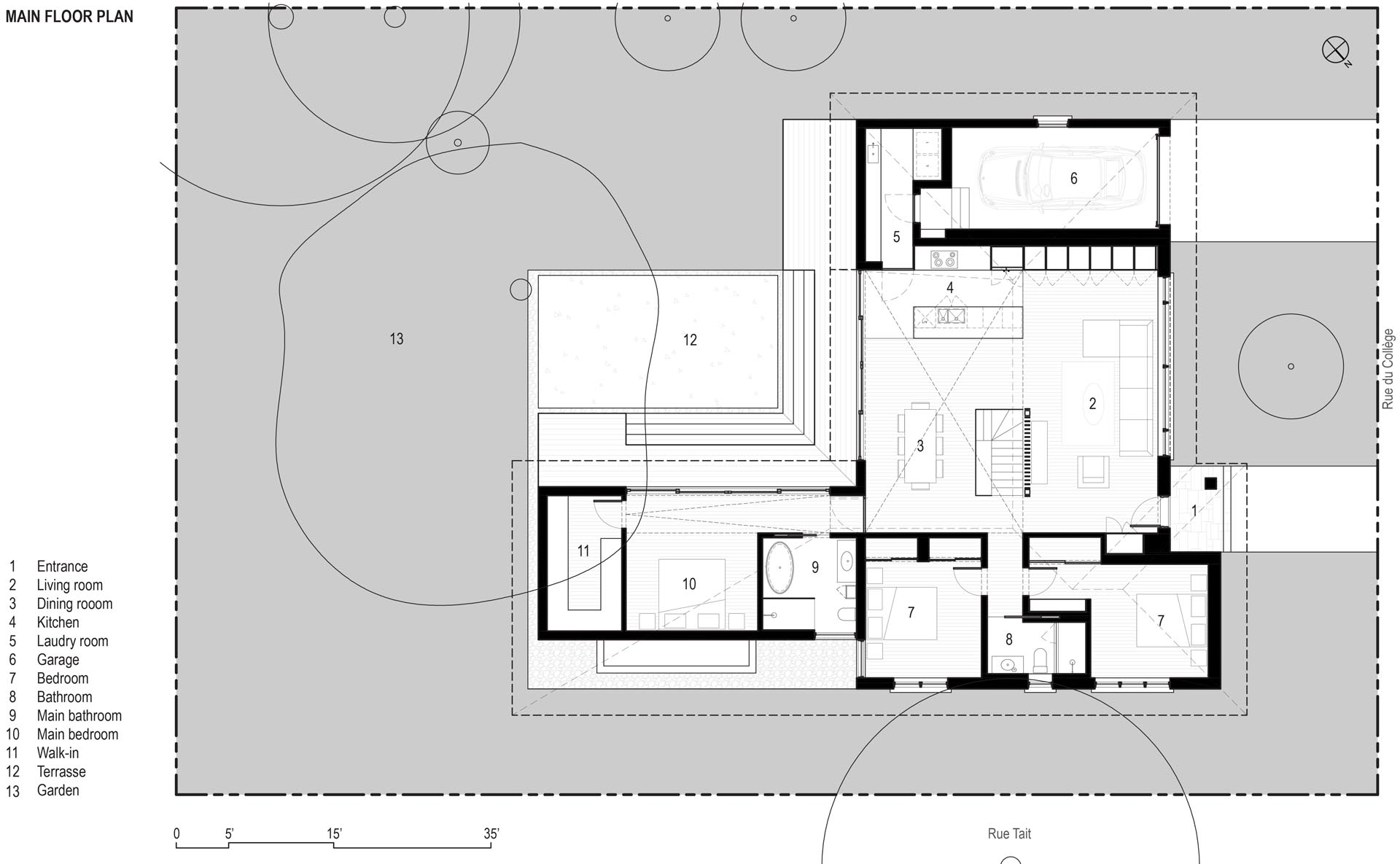 The floor plan for a modern home.