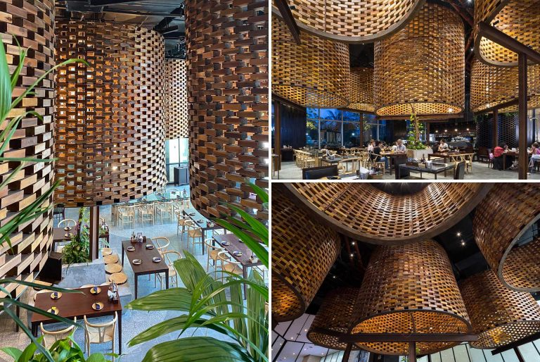 Traditional Brick Kilns Inspired The Decor Inside This Vietnamese Restaurant